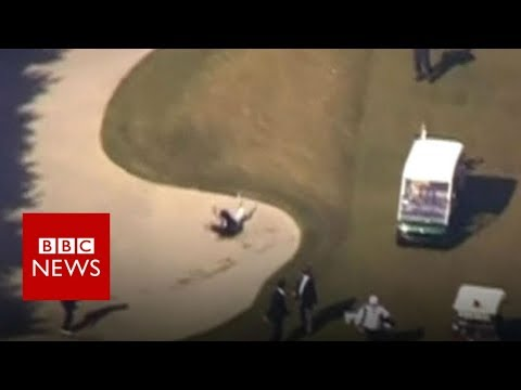 Japan's PM falls into a golf bunker - BBC News