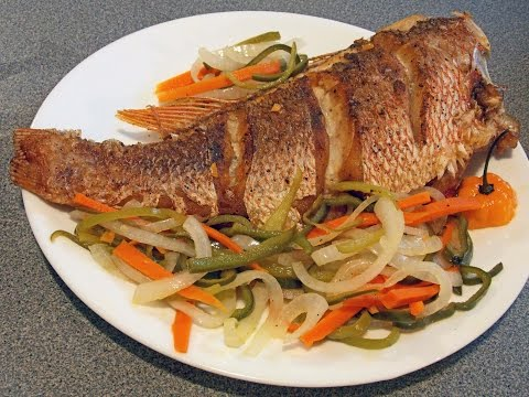 How Too Cook Fried Red Snapper Escovitch