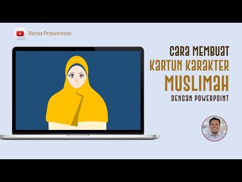 cara-membuat-kartun-karakter-muslimah-yang-menarik-dengan-powerpoint