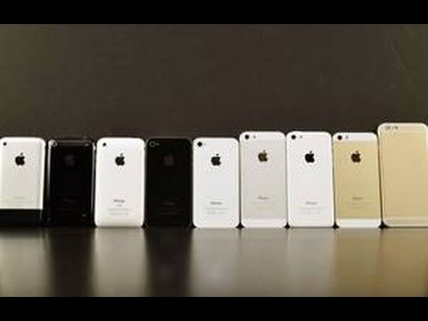 iphone 2G , 3G, 3GS, 4, 4S, 5, 5C, 5S, 6, 6 PLUS COMPARE