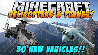 Minecraft Mods - AIRCRAFT MOD! (50+ Planes & Helicopters!) - MCHeli Mod (Mod Showcase)