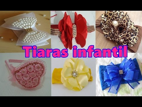 Como Fazer Tiaras infantil - Com Perolas Fitas Tiaras de Flores Vários  Modelos De Tiara Para Vender. Dicas Top 06c5ee1796f