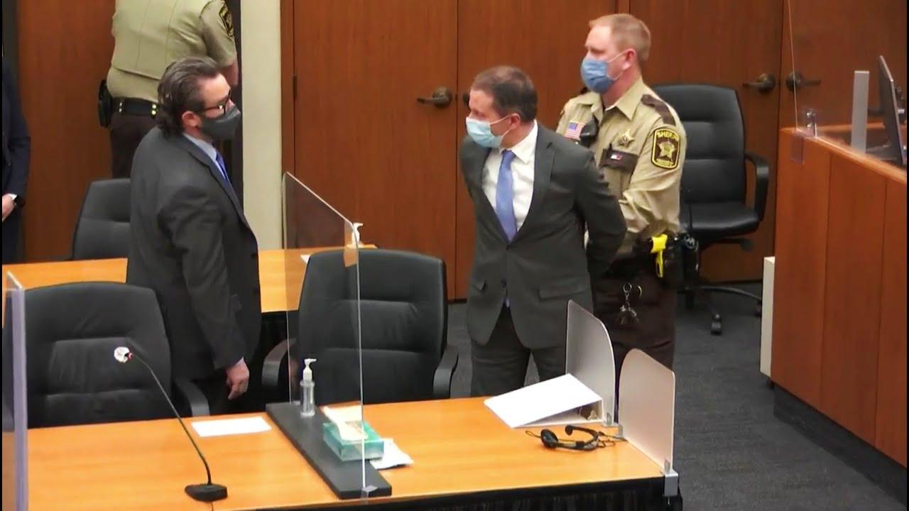 Derek Chauvin found guilty of George Floyd murder - moment the verdicts were delivered | ITV News