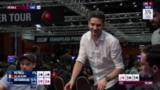 Brutal Poker Hand at EPT Prague - JJ vs 99 Set vs. Quads | PokerStars
