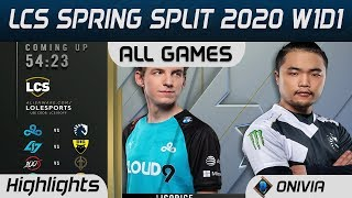 LCS Highlights Week1 Day1 LCS Spring 2020 All Games By Onivia