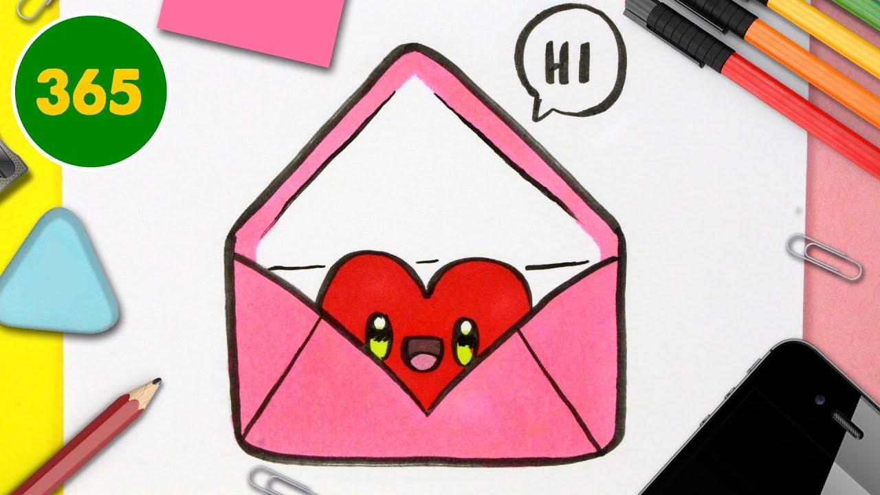 Comment Dessiner Une Lettre D Amour Kawaii Dessins Kawaii Faciles Dessins Pour La Saint Valentin Youtube