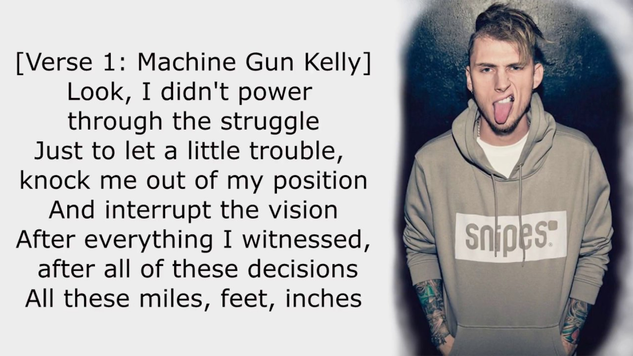 Machine Gun Kelly X Ambassadors Bebe Rexha Home Lyrics Youtube