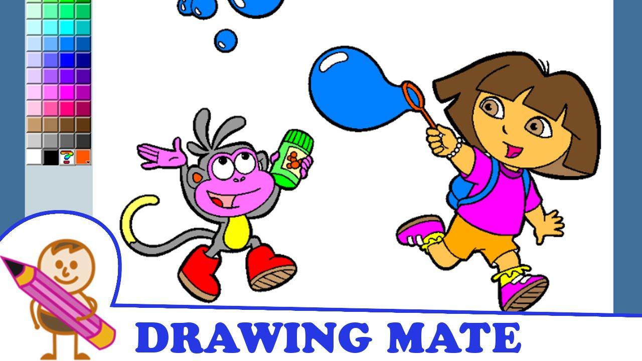 Online coloring dora the explorer - Dora Coloring Pages Kids Colouring Sheets Kolorowanki Malowanki Dla Dzieci Dora Poznaje Wiat 2016