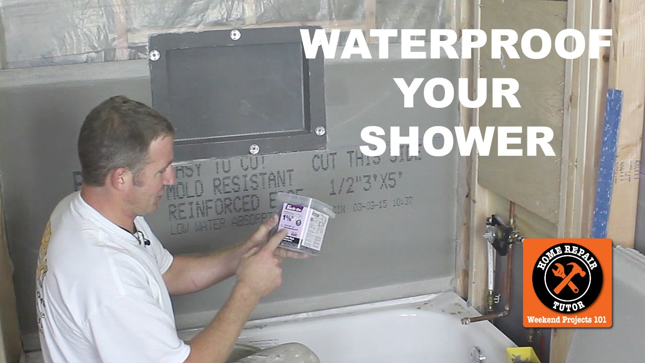 How To Waterproof A Shower 3 Awesome Methods By Home Repair Tutor Youtube