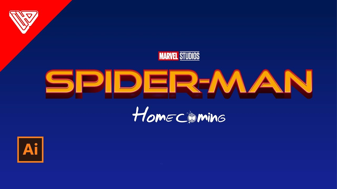 Spiderman Homecoming | Logo Style Text Effect in Adobe Illustrator