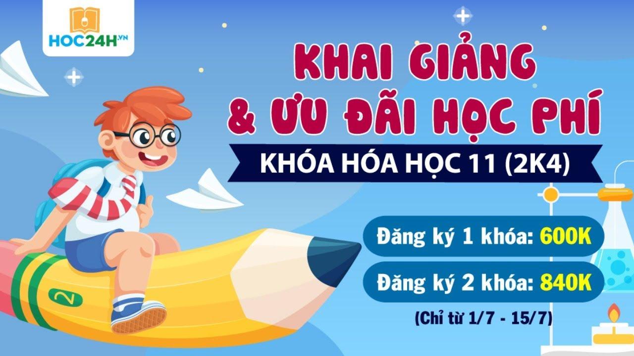 🔥 Chữa full đề Hoá – Tỉnh Tiền Giang vừa thi hôm nay (VIP 67)