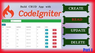 Codeigniter CRUD Application with Bootstrap