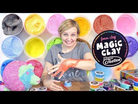 Magic Clay, Masa odbiająca, piankowa i krystaliczna
