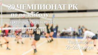 Караганда 2 Иртыш 2 Волейбол Высшая лига до 23 лет Женщины Талдыкорган