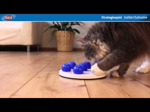 TRIXIE Heimtierbedarf - Cat Activity Strategiespiel Solitär/Solitaire