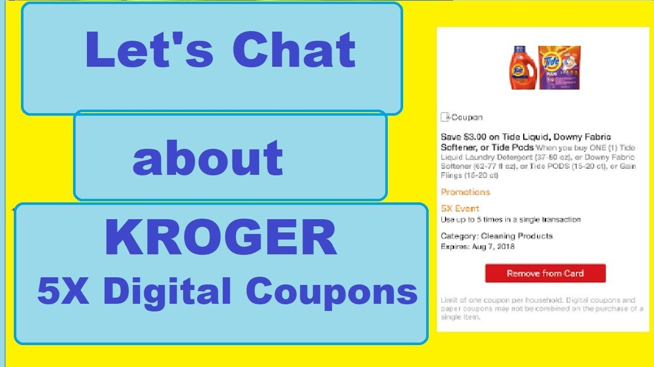 Let's Chat About Kroger 5X Digital Coupons