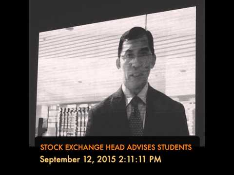 STOCK EXCHANGE HEAD ADVISES STUDENTS