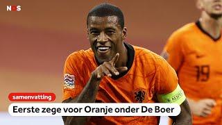 Eerste zege voor Oranje onder De Boer   samenvatting Nederland-Bosnië & Herzegovina   Nations League