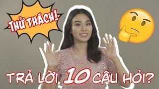 Thử Thách Trả Lời 10 Câu Hỏi THẦM KÍN Từ Fan   Linh Miu Official