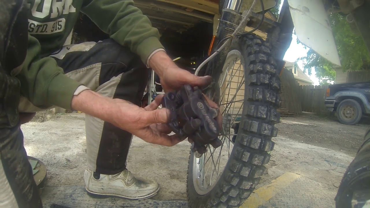 hight resolution of front brake pad replacement on a bmw g 650 gs sertao how too