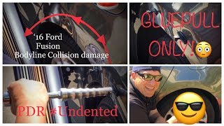 PDR Training GLUE PULL only 😳| No Access | Bodyline Dent #pdr #gluepull #undented #fordfocus