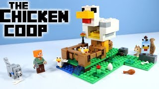 LEGO Minecraft 2018 The Chicken Coop Construction Set Speed Build Toy Review
