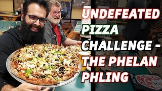 Undefeated Pizza Challenge: 5+ Pound Phelan Phling at Pizza Factory   Freak Eating