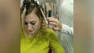прическа завивка афрокудри салон красоты La Familia salon семейная парикмахерская