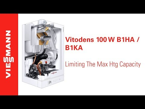 How to limit the maximum heating capacity on a Vitodens 100-W, B1HA / B1KA