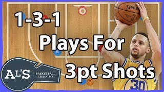 1-3-1 Basketball Offense For 3 Point Shots