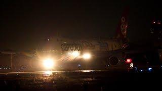 """暗いですが特別塗装です """"Cutaway in Dark Airport"""" Cargolux Boeing 747-8R7F/SCD LX-VCM"""