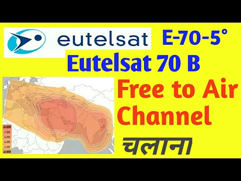 Eutelsat 70B E-70-5° Free to Air Channel chalna