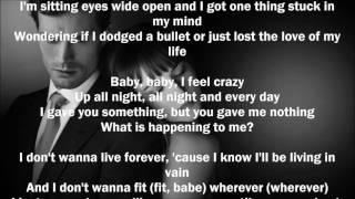 Fifty Shades Darker - I Don't Wanna Live Forever (Lyrics) (Cover)