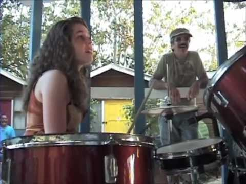 "Teenage Drummer Girl plays Reggae 1st Time"", 'Boat Bar', Part 2,  Negril, Jamaica, 2012"