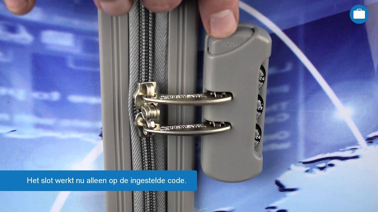 43a27fc8ca9 Instellen cijferslot koffer - Bagageonline.nl - YouTube