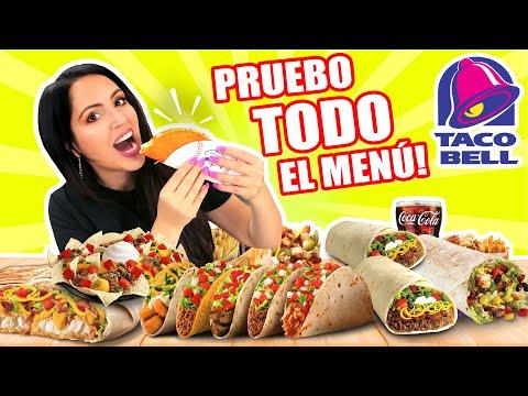 Compro TODO El Menú De Taco Bell! 😱 TRYING THE ENTIRE TACO BELL MENU 🔥 SandraCiresArt