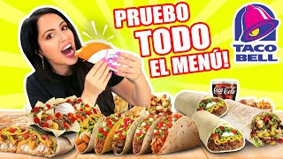 Compro TODO el Menú de Taco Bell! 😱 TRYING THE ENTIRE TACO BELL MENU 🔥 SandraCiresArt