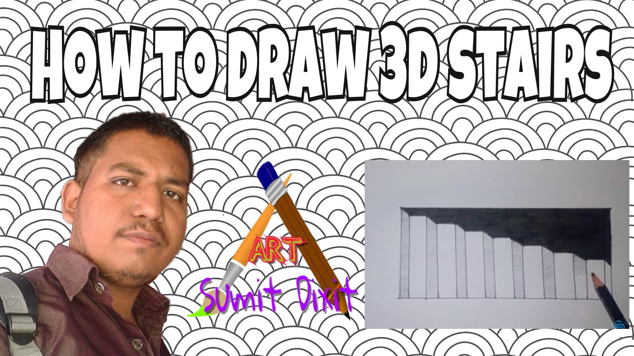 how to draw penrose stairs