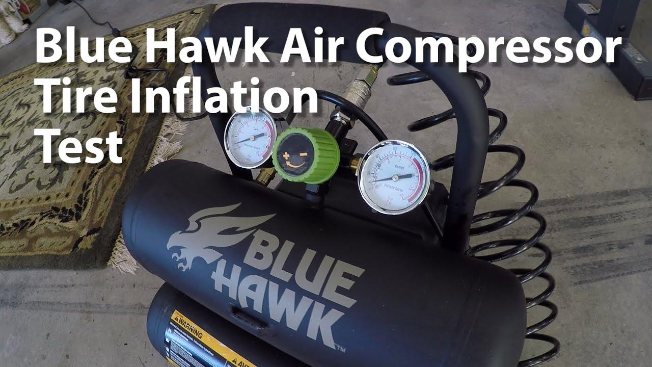 Air Hawk Compressor >> Blue Hawk Air Compressor from Lowes Hardware - Model 0470440 - YouTube