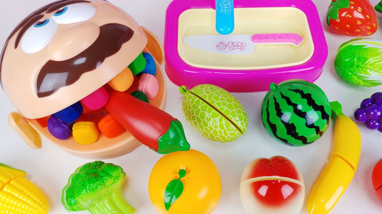 Play Doh Dentista And Baby Doll Fruit Vegetable Cutting
