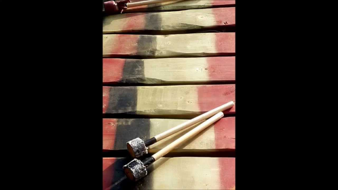 African Marimba (wood xylophone) - YouTube  |African Wooden Xylophone