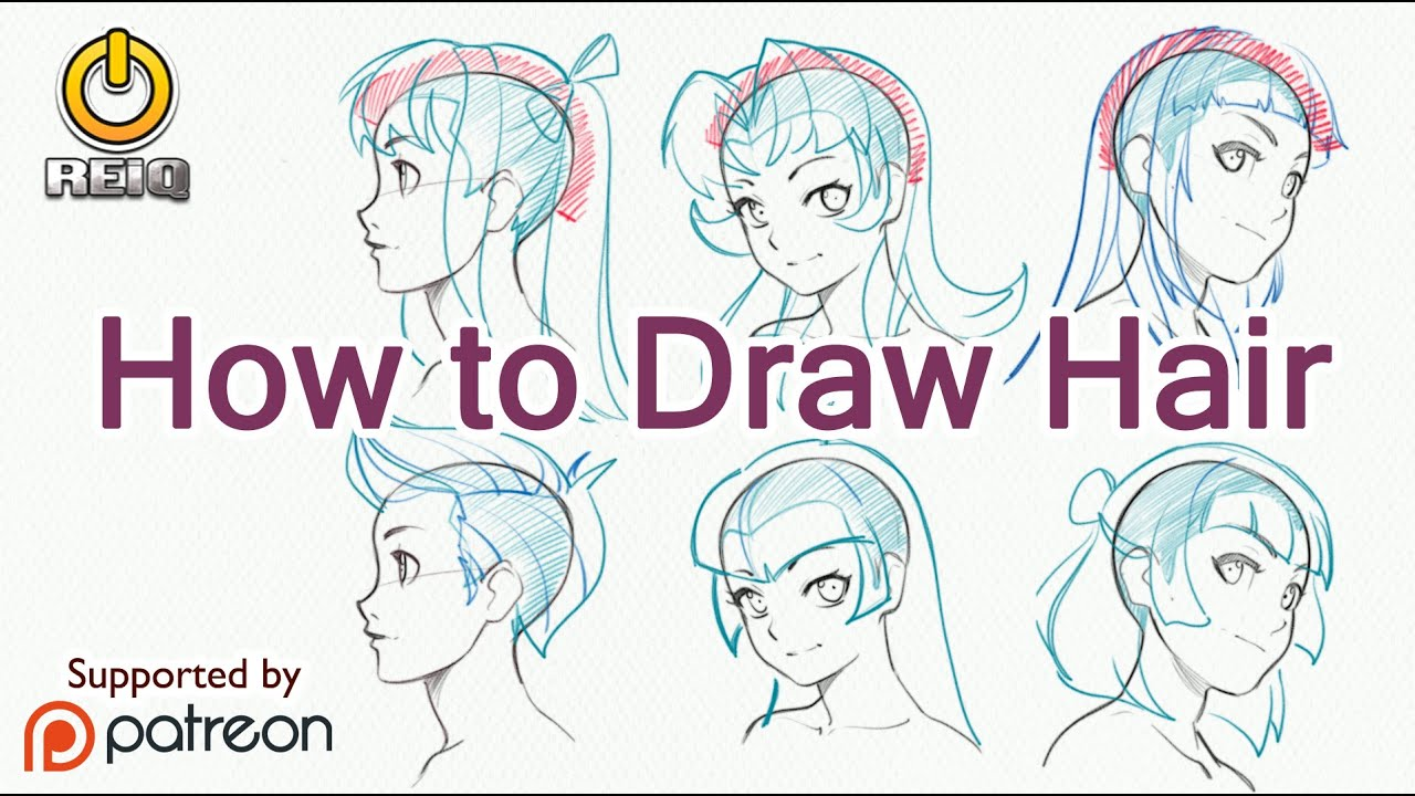 draw anime hair construction