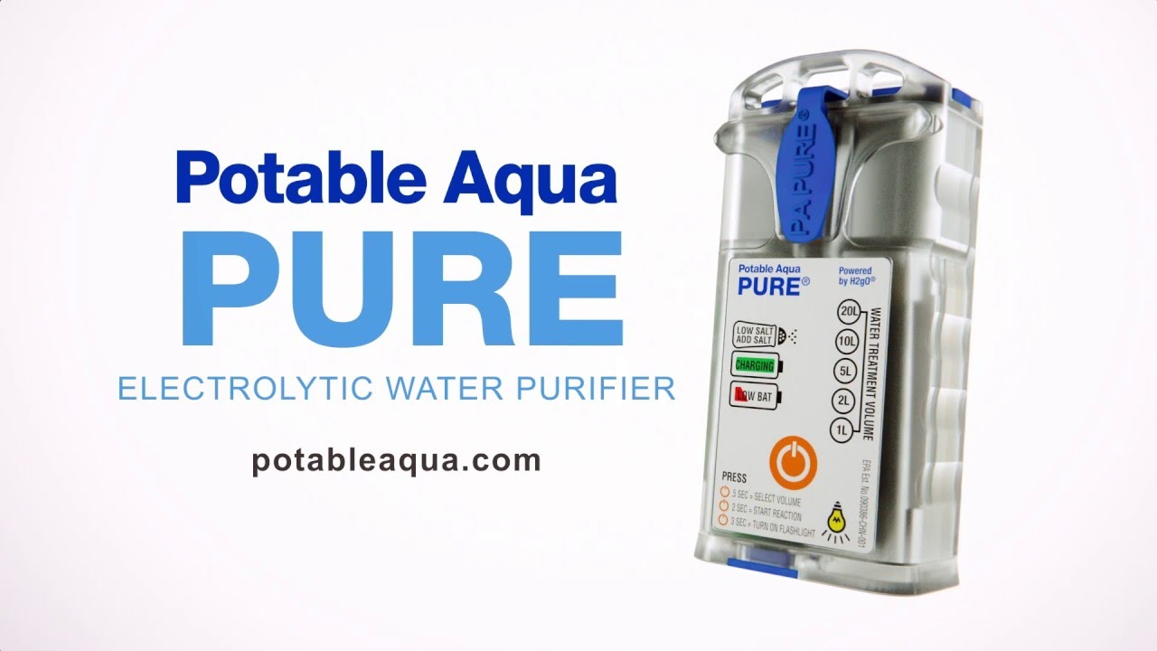 Potable Aqua® Pure Electrolytic Water Purifier - How to Purify and Drink  Dirty Water
