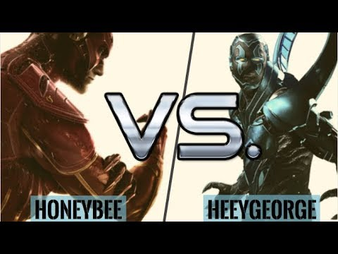 AMAZING BLUE BEETLE! HoneyBee vs HeeyGe0rge