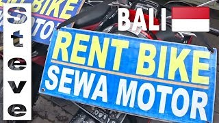 WALKING AROUND BALI INDONESIA - Cost of Bike Rental in Bali