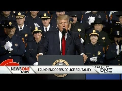 Trump Endorses Police Brutality, Cops Distance Themselves From His Remarks