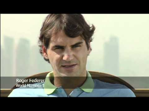 Roger Federer and Novak Djokovic interview on Burj Al Arab Helipad