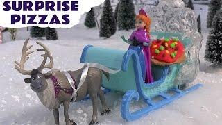 frozen toys play doh surprise egg pizza disney mermaid princess ariel anna queen elsa cinderella