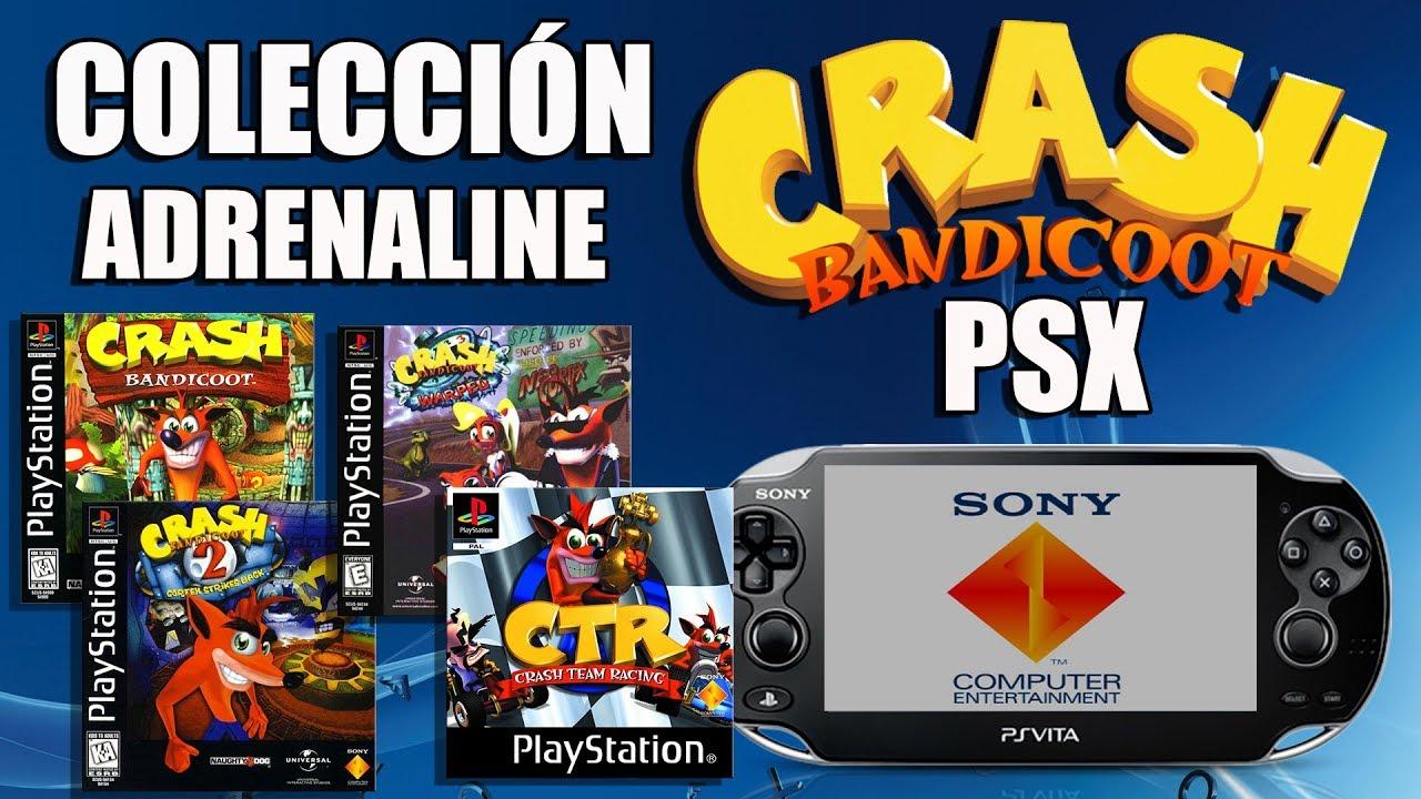 Crash Bandicoot Collection PSX Listos para Adrenaline