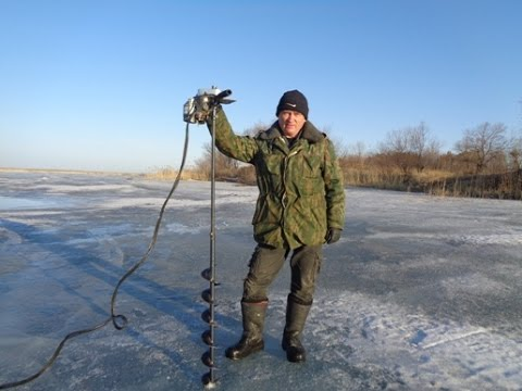 Электроледобур своими руками !!!! Максимум кайфа на зимней рыбалке!